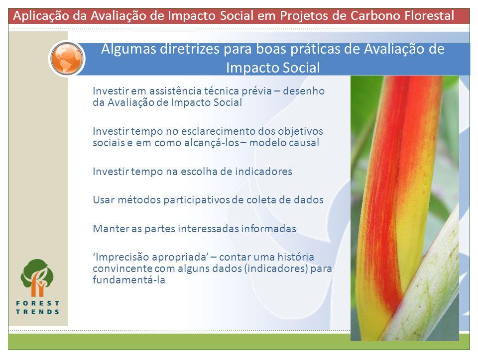 Investir em assistência técnica prévia – desenho da Avaliação de Impacto Social Investir tempo no esclarecimento dos objetivos sociais e em como alcan