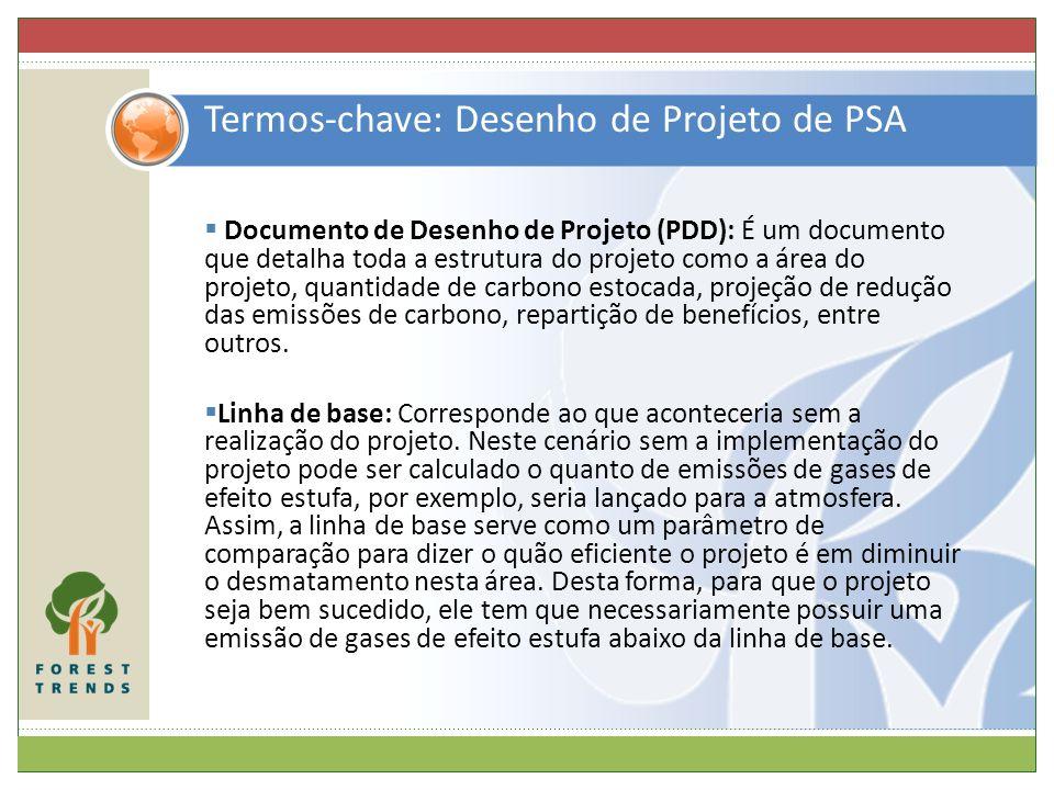 Termos-chave: Desenho de Projeto de PSA Documento de Desenho de Projeto (PDD): É um documento que detalha toda a estrutura do projeto como a área do p