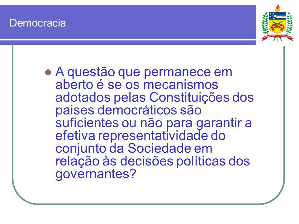 Ciberdemocracia As ferramentas de ciberdemocracia são adequadas ou não para garantir a efetiva participação do povo nas decisões políticas?
