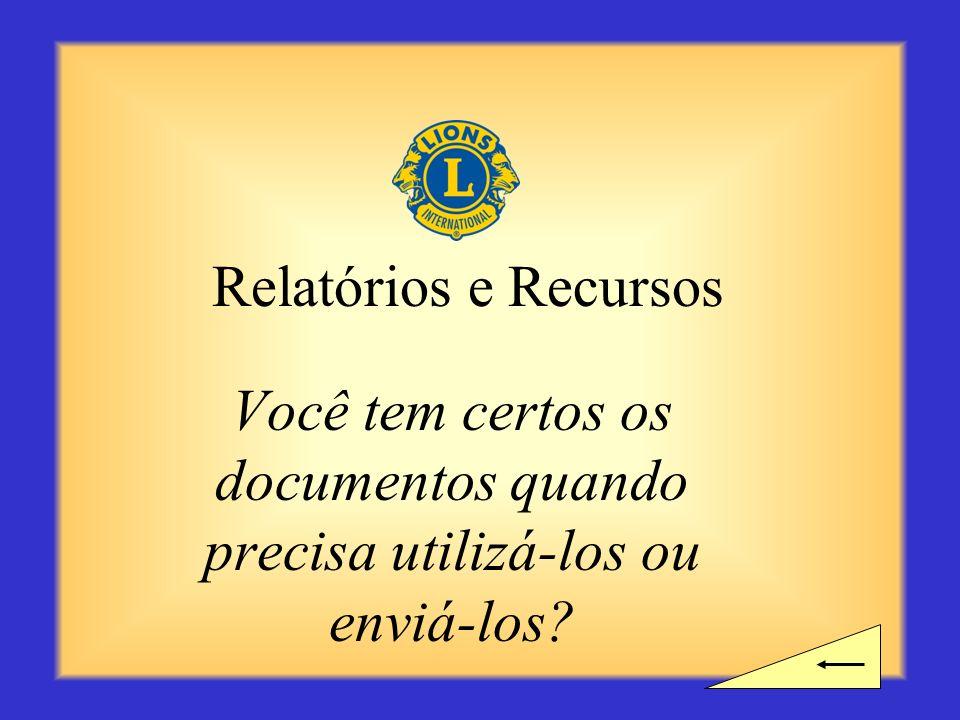 Intervalo? Você precisa de tempo para um intervalo antes de começar a próxima seção sobre Relatórios e Recursos?