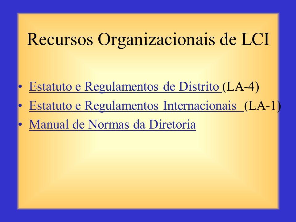 Recursos para Sócios de LCI (cont.) Comitê de Três Pessoas para Aumento do Quadro Social (ME 29) O Patrocínio é uma Responsabilidade Importante (ME21)