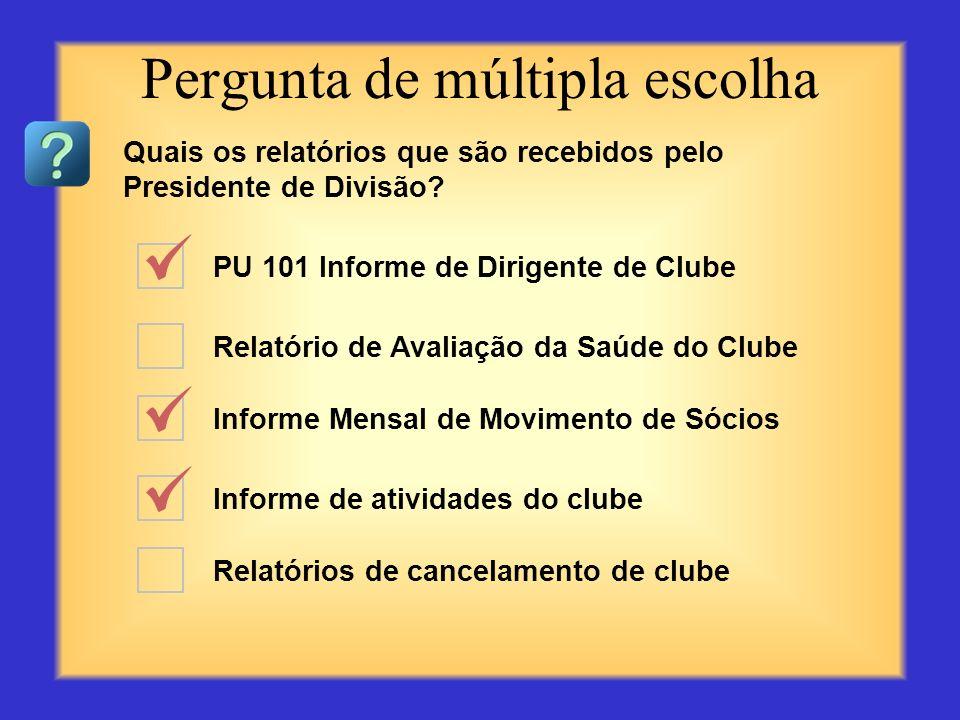 Adiar a discussão sobre um problema Elogiar os clubes sobre os sucessos alcançados Esperar para que os dirigentes de clube entrem em contato Entrar em
