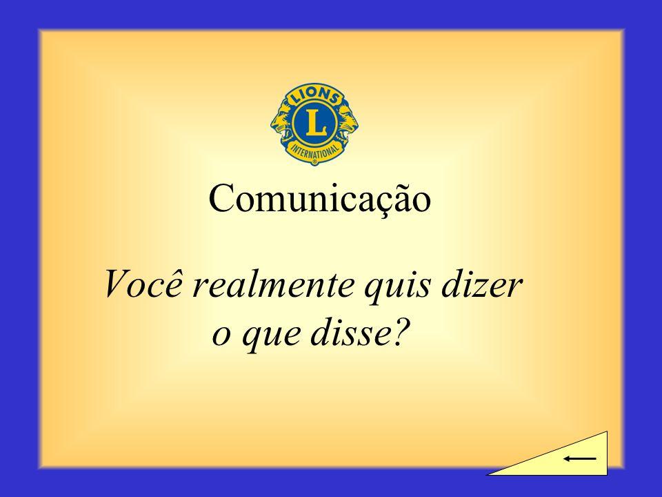 Intervalo? Você precisa de tempo para um intervalo antes de começar a próxima seção sobre Comunicação?