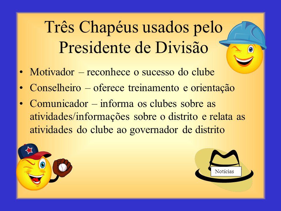 Você, o Presidente de Divisão... Colabora com o governador de distrito para assegurar que os clubes da divisão estejam em dia com a associação, recebe