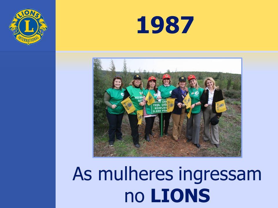 1987 As mulheres ingressam no LIONS