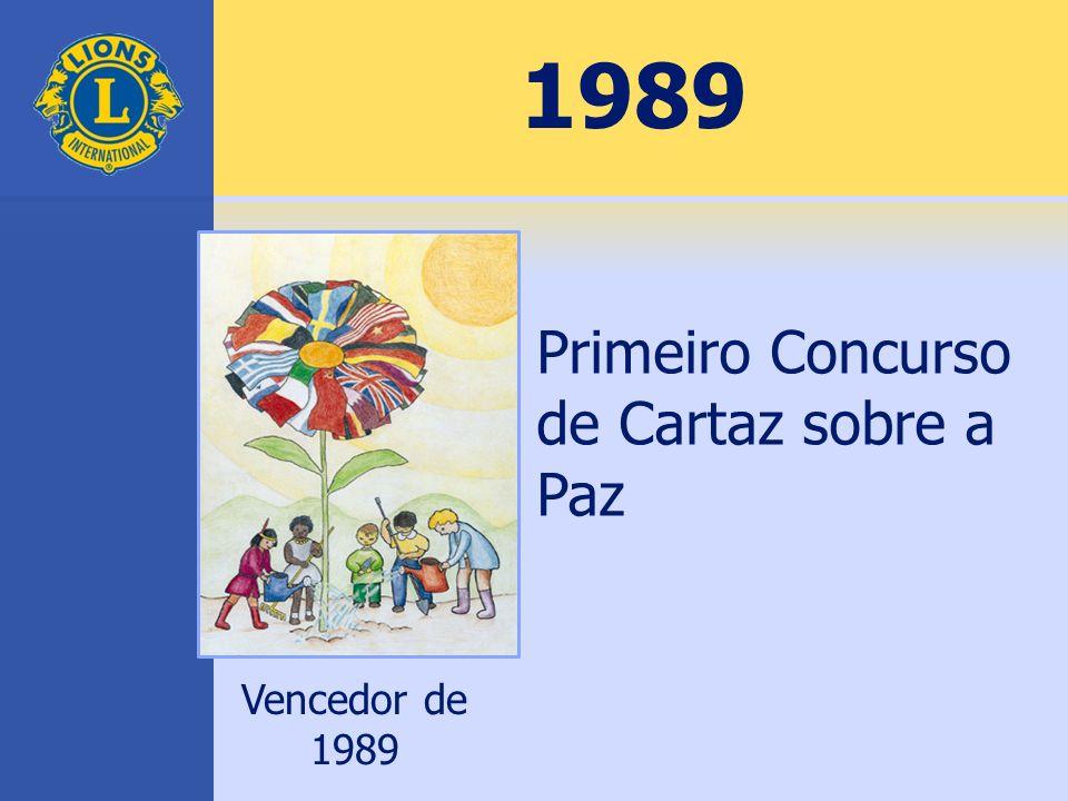 1989 Primeiro Concurso de Cartaz sobre a Paz Vencedor de 1989
