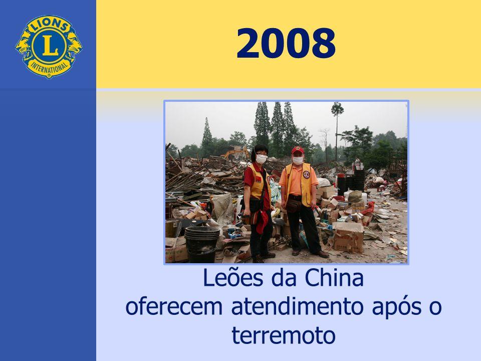 2008 Leões da China oferecem atendimento após o terremoto