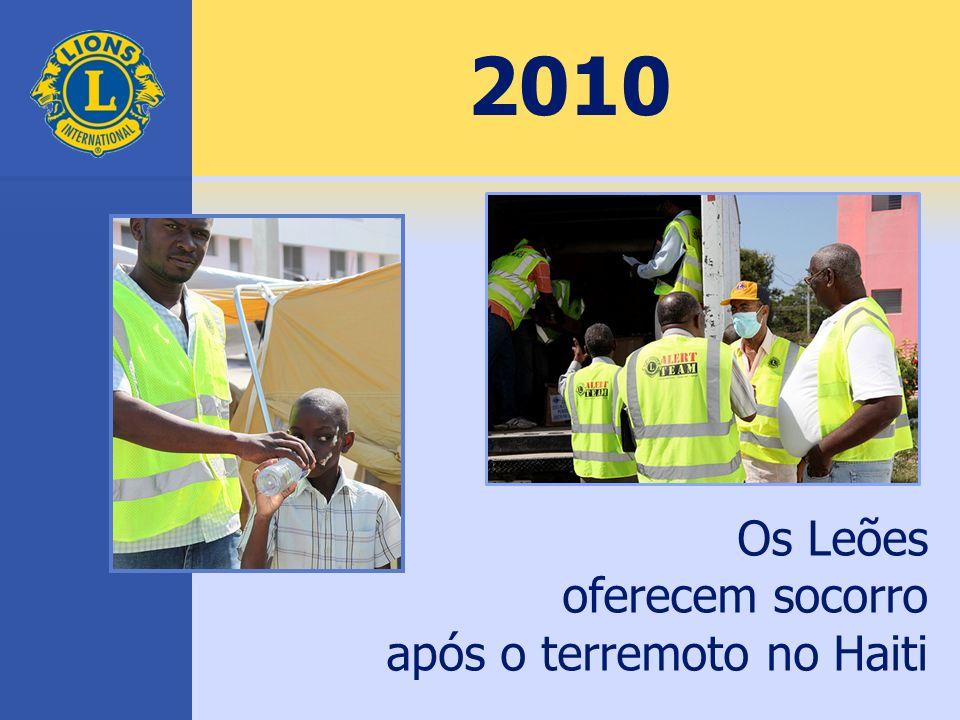 2010 Os Leões oferecem socorro após o terremoto no Haiti