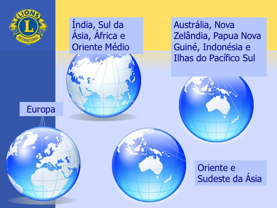 Índia, Sul da Ásia, África e Oriente Médio Austrália, Nova Zelândia, Papua Nova Guiné, Indonésia e Ilhas do Pacífico Sul Oriente e Sudeste da Ásia Eur