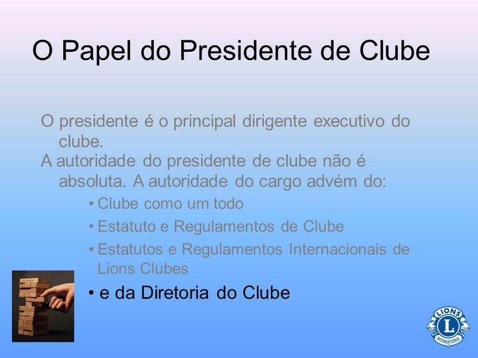 Deveres do Presidente (Nas reuniões) O presidente do clube faz a convocação para as reuniões ordinárias e extraordinárias da diretoria do clube.