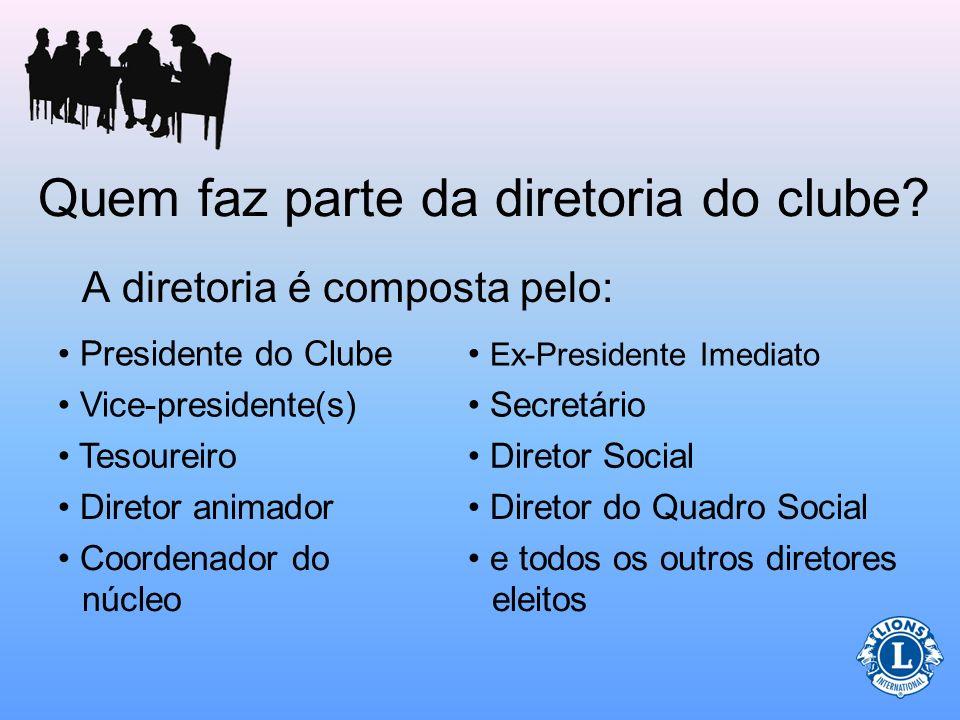 Papel do Presidente (Relativo aos dirigentes de clube) O presidente oferecerá assistência ao tesoureiro em funções específicas.