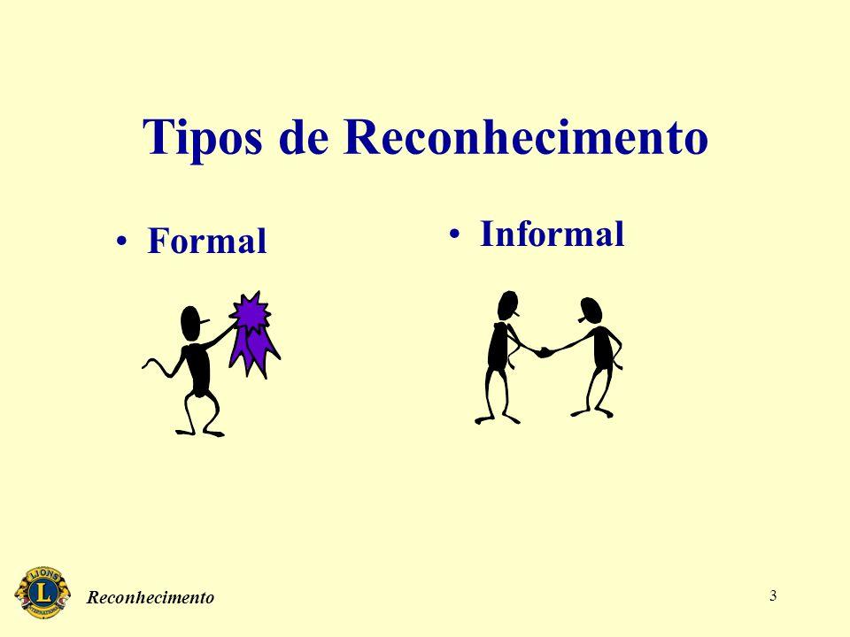 Reconhecimento 3 Tipos de Reconhecimento Formal Informal