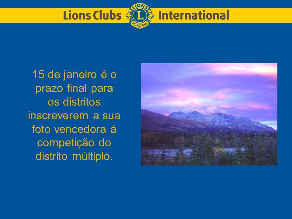 15 de janeiro é o prazo final para os distritos inscreverem a sua foto vencedora à competição do distrito múltiplo.