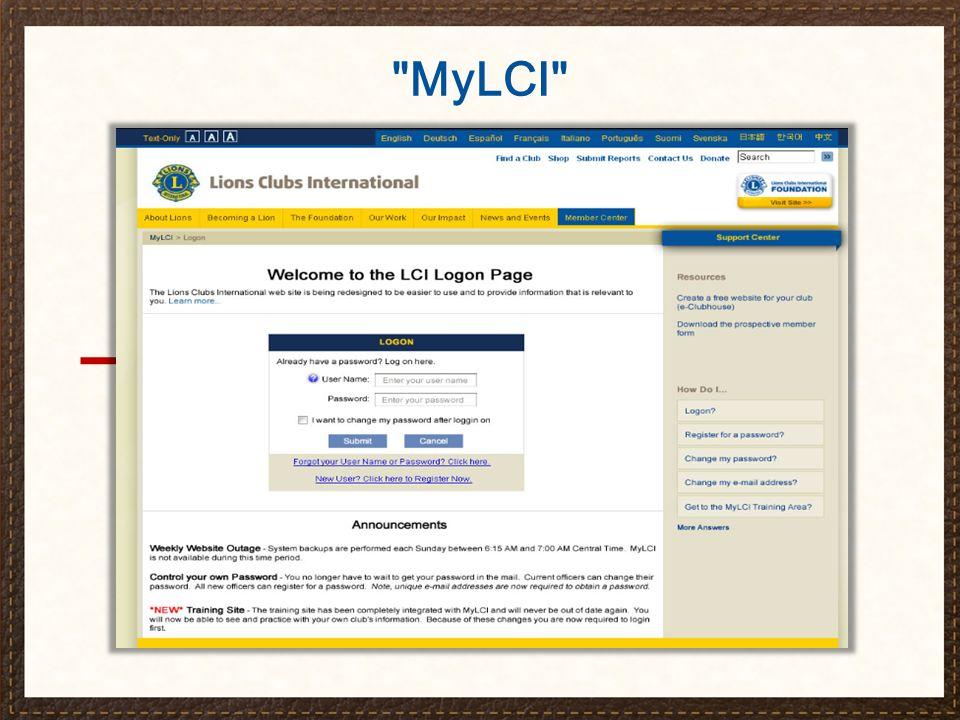 Central de Atendimento mylci@lionsclubs.org 630-468-6900 8:30 hs - 16:30 hs (Horário de Chicago) O Secretário do Clube e o MyLCI