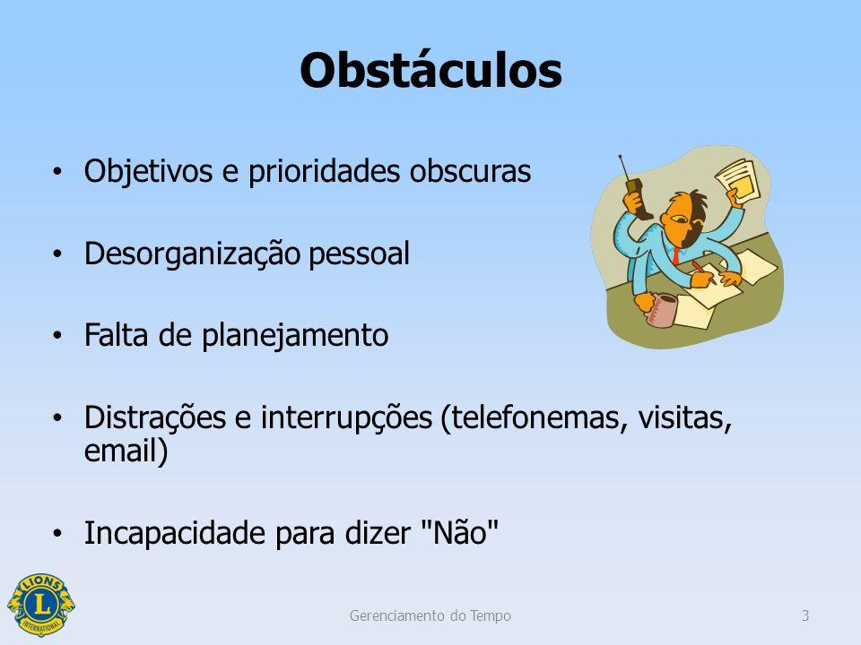 Objetivos da sessão Descrever a importância Reconhecer os obstáculos comuns Identificar estratégias Gerenciamento do Tempo2