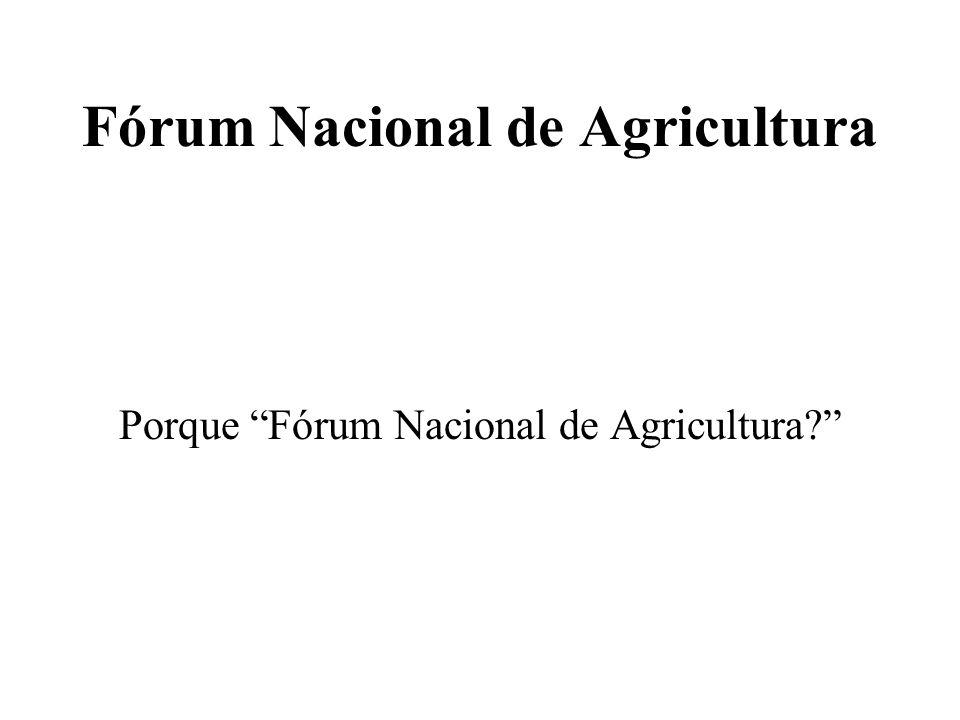 Fórum Nacional de Agricultura Agricultura –Base da economia Moçambicana 75% das famílias do País vive de agricultura 80% da mão de obra activa está na agricultura Cerca de 98% da produção agrícola provém do sector familiar