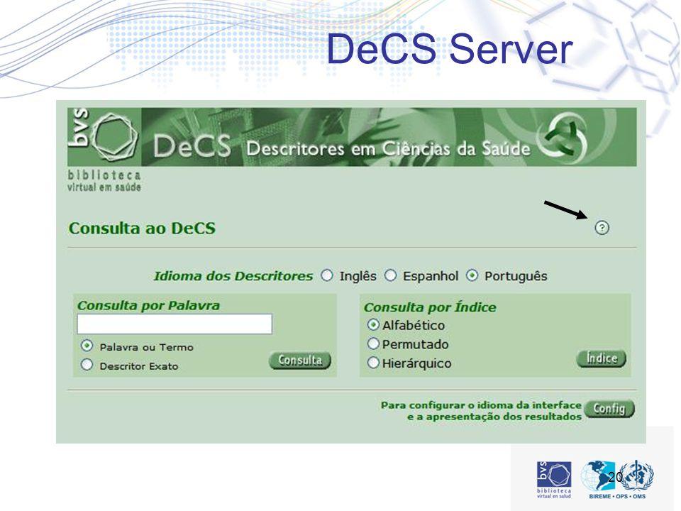 20 DeCS Server