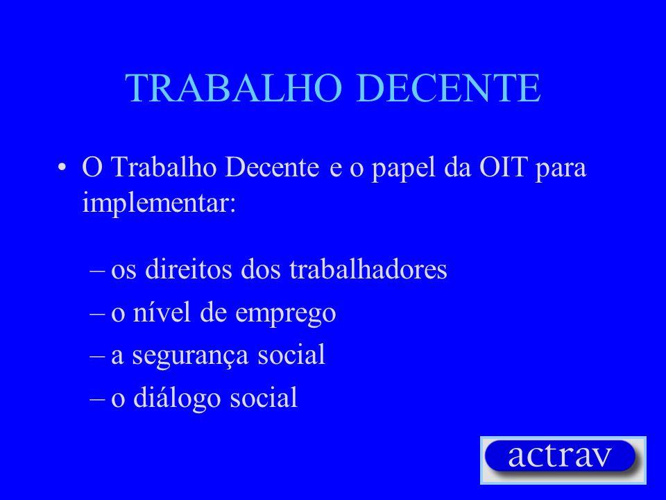 O DESAFIO: GERENCIAR OU COMBATER A GLOBALIZAÇÃO? (2) Globalização dos direitos dos trabalhadores: a Declaração da OIT Cláusulas Sociais dentro dos tra