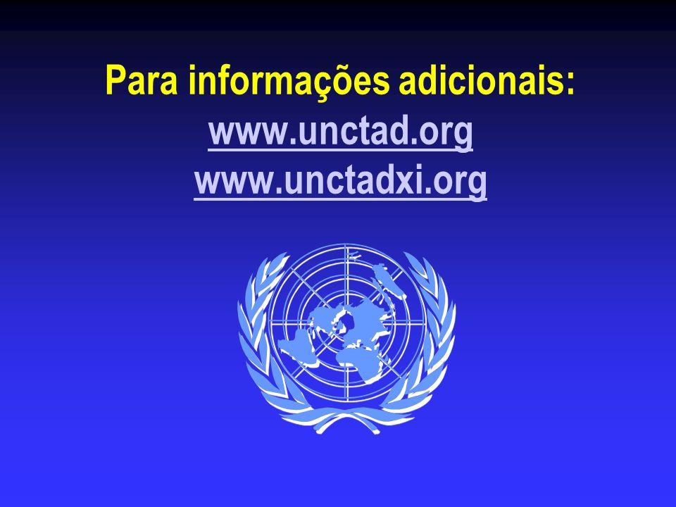 Para informações adicionais: www.unctad.org www.unctadxi.org www.unctad.org www.unctadxi.org