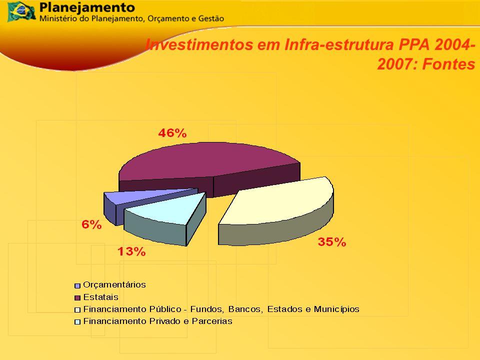 Participação do Setor Privado, das Empresas Estatais e do Governo na Taxa de Investimento da Economia 2003 Em % do PIB 0 5 10 15 20 25 200020012002 EstataisGovernoSetor Privado