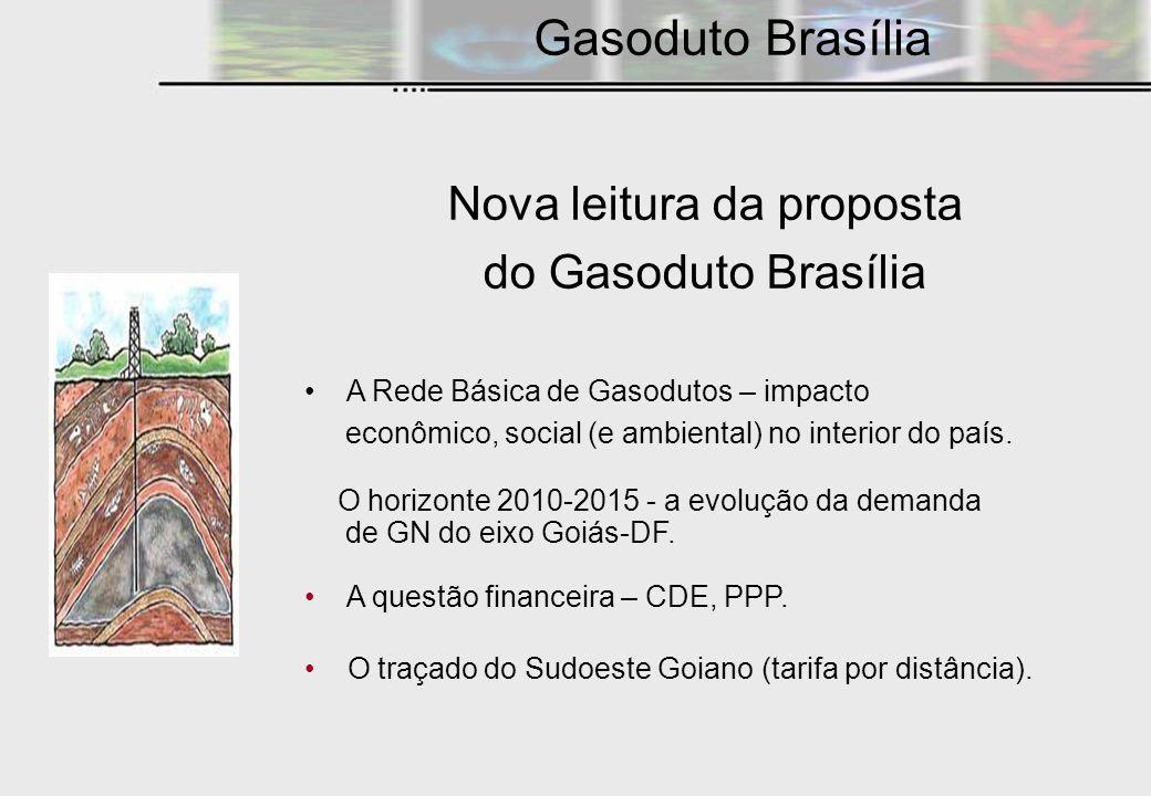 Nova leitura da proposta do Gasoduto Brasília A Rede Básica de Gasodutos – impacto econômico, social (e ambiental) no interior do país. O horizonte 20