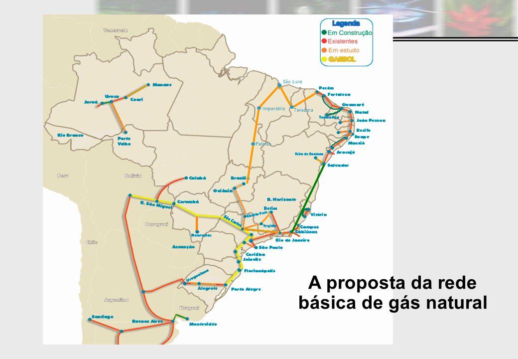 Palmas Imperatriz São Luiz Terezina A proposta da rede básica de gás natural