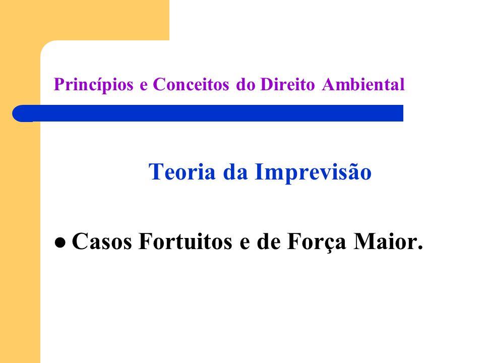 Princípios e Conceitos do Direito Ambiental Teoria da Imprevisão Casos Fortuitos e de Força Maior.