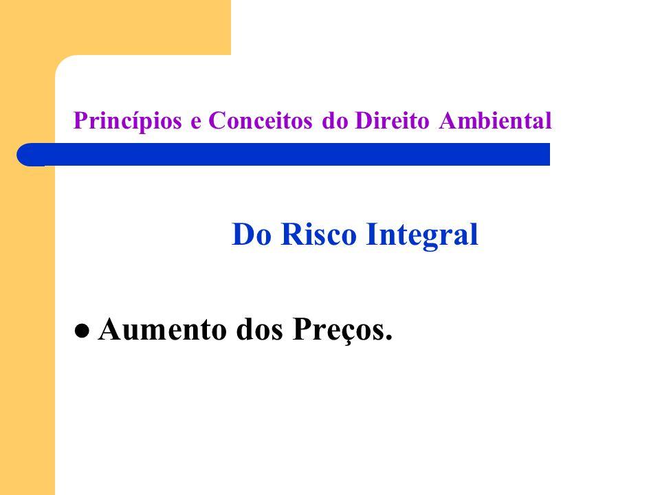Princípios e Conceitos do Direito Ambiental Do Risco Integral Aumento dos Preços.