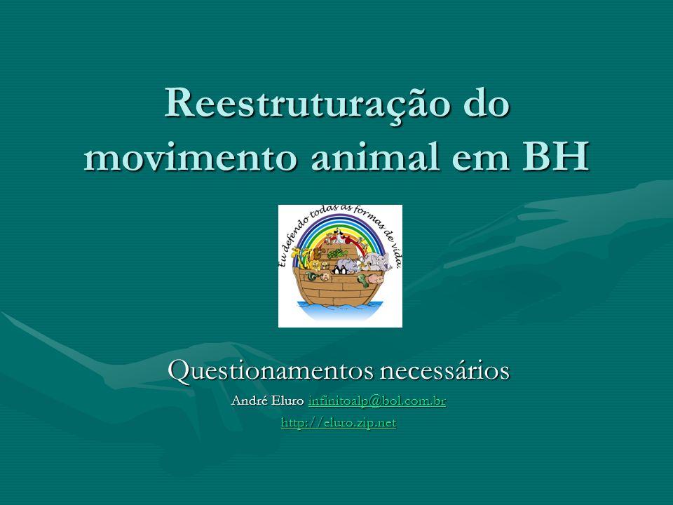 Reestruturação do movimento animal em BH Questionamentos necessários André Eluro infinitoalp@bol.com.br infinitoalp@bol.com.br http://eluro.zip.net