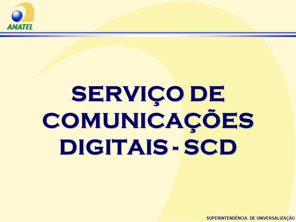 SUPERINTENDÊNCIA DE UNIVERSALIZAÇÃO SERVIÇO DE COMUNICAÇÕES DIGITAIS - SCD