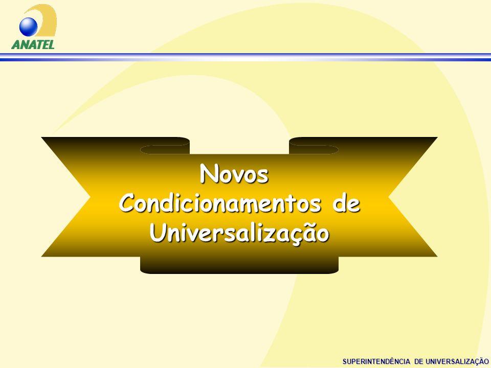 SUPERINTENDÊNCIA DE UNIVERSALIZAÇÃO Novos Condicionamentos de Universalização