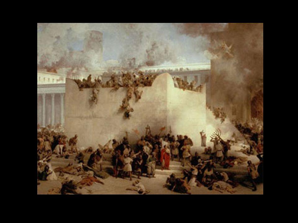 Jerusalém não se rendia; nada parecia poder deter aquela cidade desvairada. Tito, finalmente, toma Antônia. Fica ainda o Templo, que repele o assalto