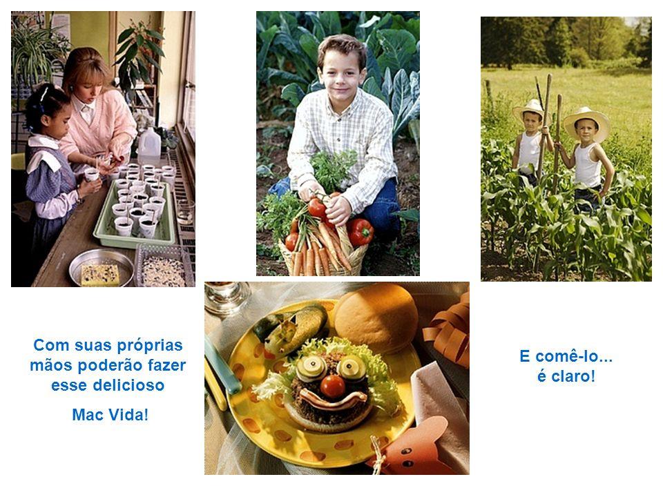 As verduras, legumes e frutas cultivadas pelos alunos serão servidas nas refeições comunitárias. A escola possui um amplo refeitório, onde os alunos p