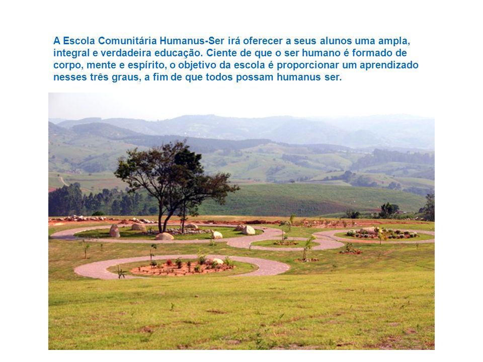 A escola está sendo construída num local privilegiado, situado no alto das montanhas do distrito de Joaquim Egídio, município de Campinas, e contará c
