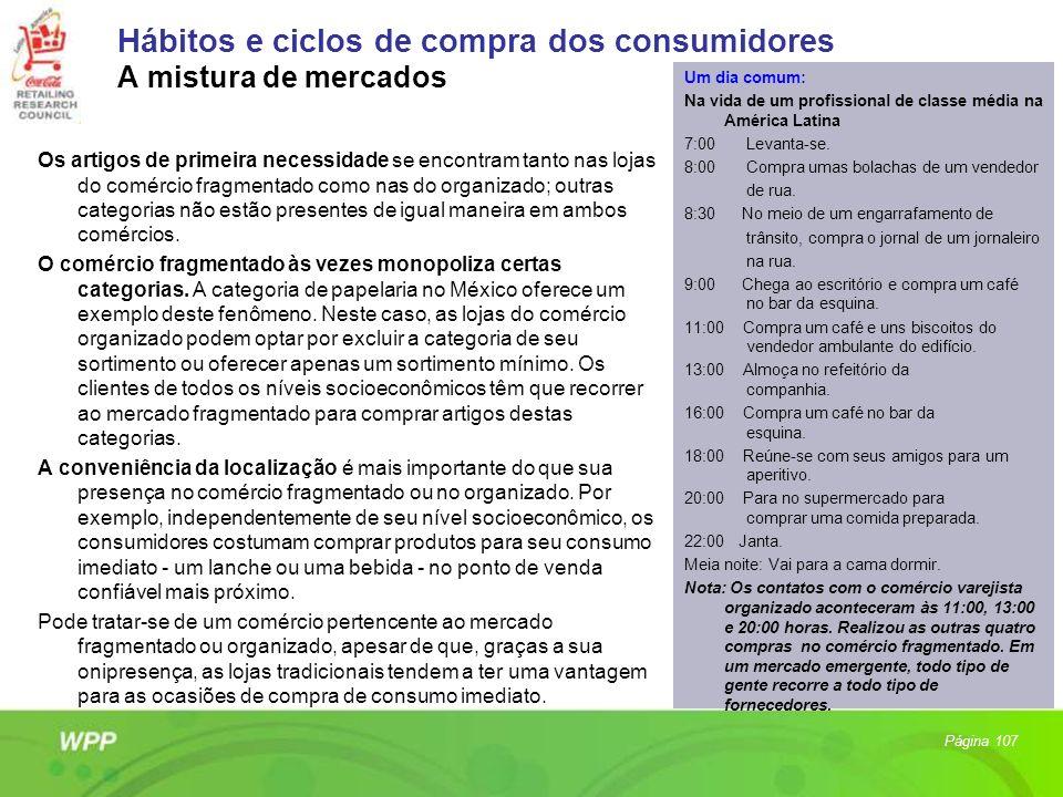 Hábitos e ciclos de compra dos consumidores A mistura de mercados Os artigos de primeira necessidade se encontram tanto nas lojas do comércio fragment