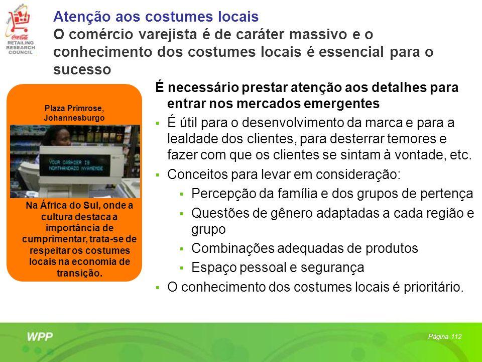 Atenção aos costumes locais O comércio varejista é de caráter massivo e o conhecimento dos costumes locais é essencial para o sucesso É necessário pre