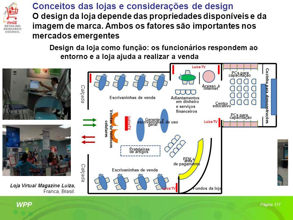 Design da loja como função: os funcionários respondem ao entorno e a loja ajuda a realizar a venda Página 117 Loja Virtual Magazine Luiza, Franca, Bra