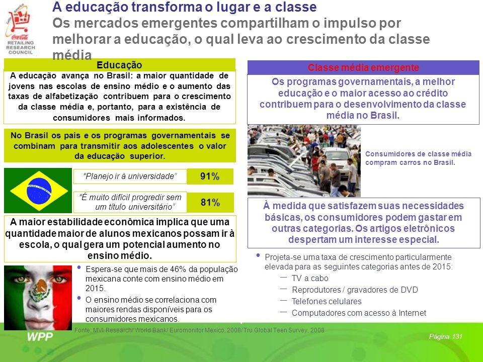 Educação Classe média emergente A educação avança no Brasil: a maior quantidade de jovens nas escolas de ensino médio e o aumento das taxas de alfabet