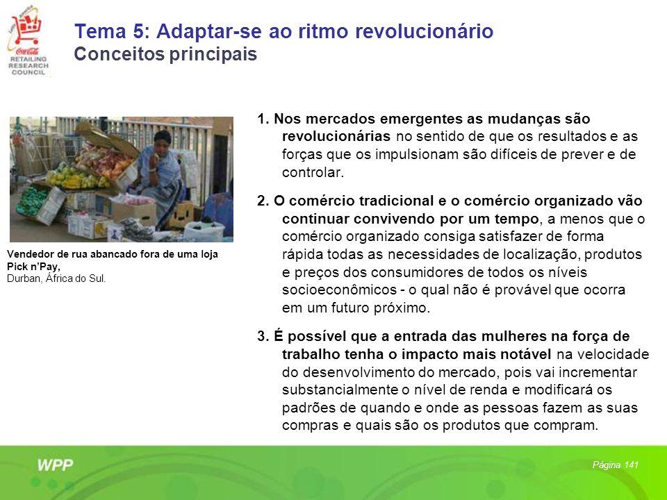 Tema 5: Adaptar-se ao ritmo revolucionário Conceitos principais 1. Nos mercados emergentes as mudanças são revolucionárias no sentido de que os result