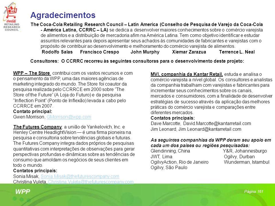 Agradecimentos The Coca-Cola Retailing Research Council – Latin America (Conselho de Pesquisa de Varejo da Coca-Cola - América Latina, CCRRC – LA) se
