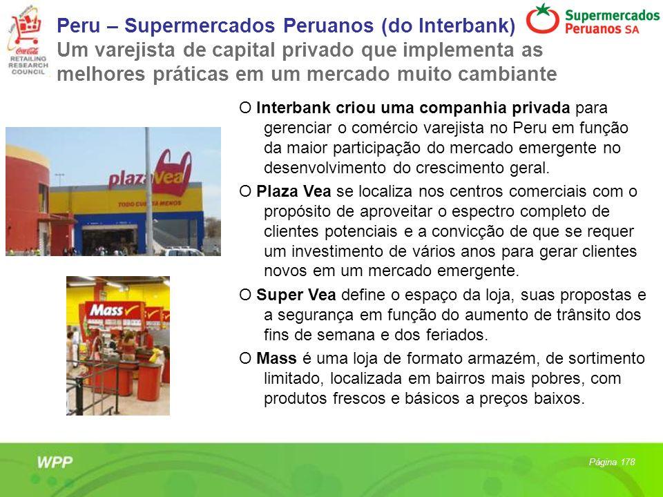 Peru – Supermercados Peruanos (do Interbank) Um varejista de capital privado que implementa as melhores práticas em um mercado muito cambiante O Inter