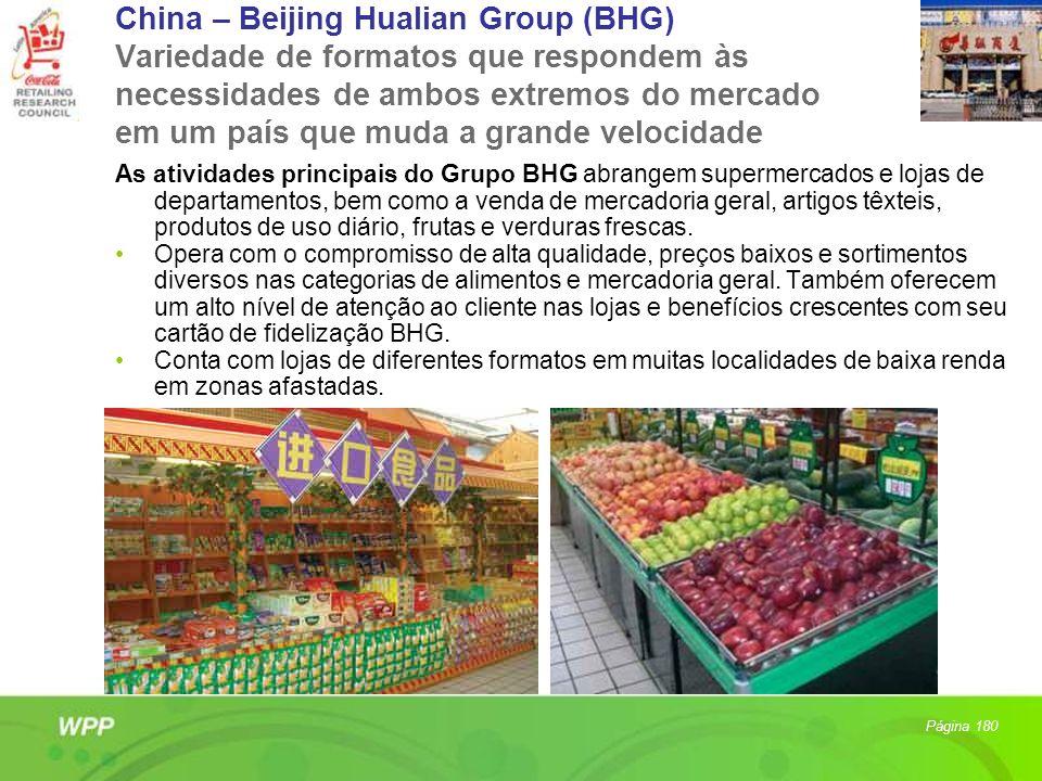 China – Beijing Hualian Group (BHG) Variedade de formatos que respondem às necessidades de ambos extremos do mercado em um país que muda a grande velo