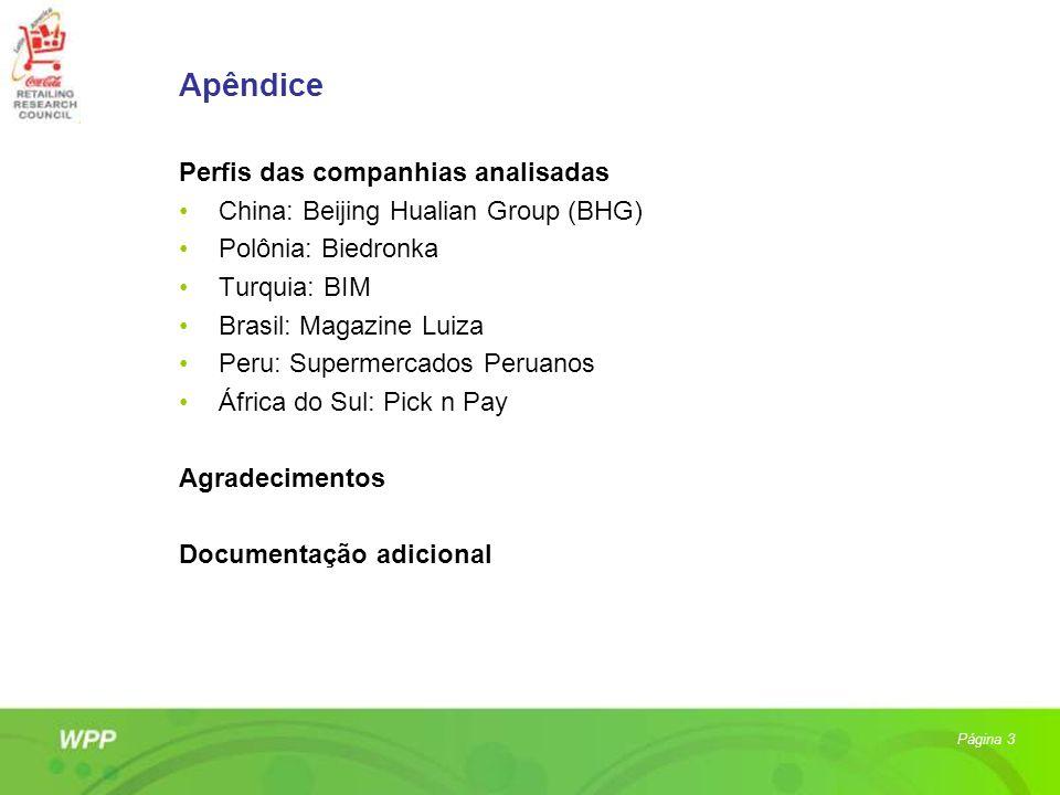 Apêndice Perfis das companhias analisadas China: Beijing Hualian Group (BHG) Polônia: Biedronka Turquia: BIM Brasil: Magazine Luiza Peru: Supermercado