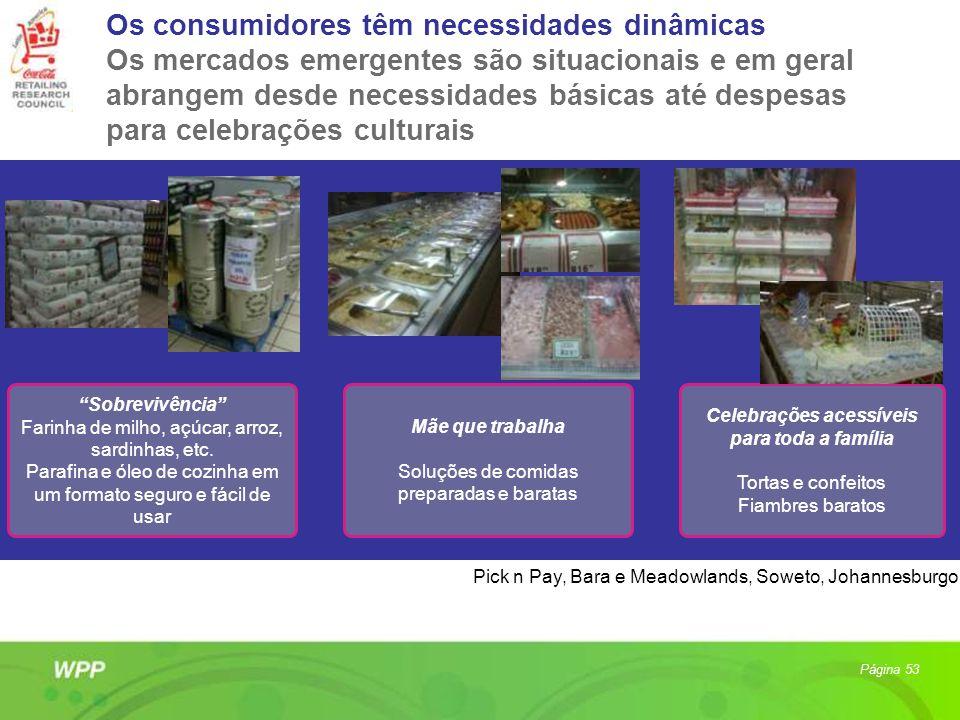 Os consumidores têm necessidades dinâmicas Os mercados emergentes são situacionais e em geral abrangem desde necessidades básicas até despesas para ce