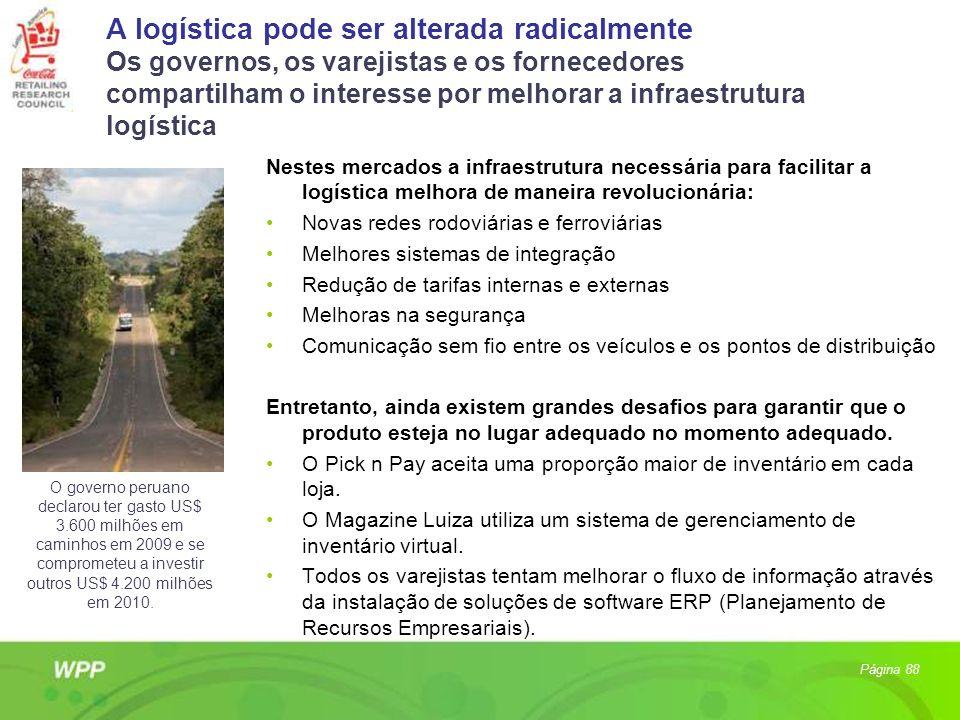 A logística pode ser alterada radicalmente Os governos, os varejistas e os fornecedores compartilham o interesse por melhorar a infraestrutura logísti