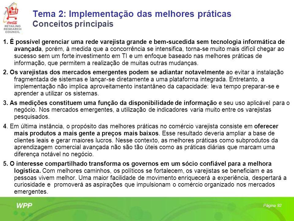 Tema 2: Implementação das melhores práticas Conceitos principais 1. É possível gerenciar uma rede varejista grande e bem-sucedida sem tecnologia infor