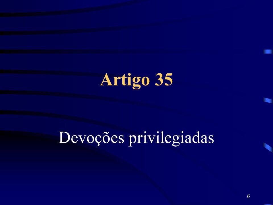 6 Artigo 35 Devoções privilegiadas