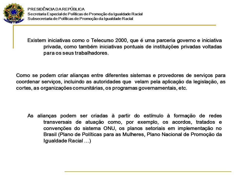 PRESIDÊNCIA DA REPÚBLICA Secretaria Especial de Políticas de Promoção da Igualdade Racial Subsecretaria de Políticas de Promoção da Igualdade Racial E