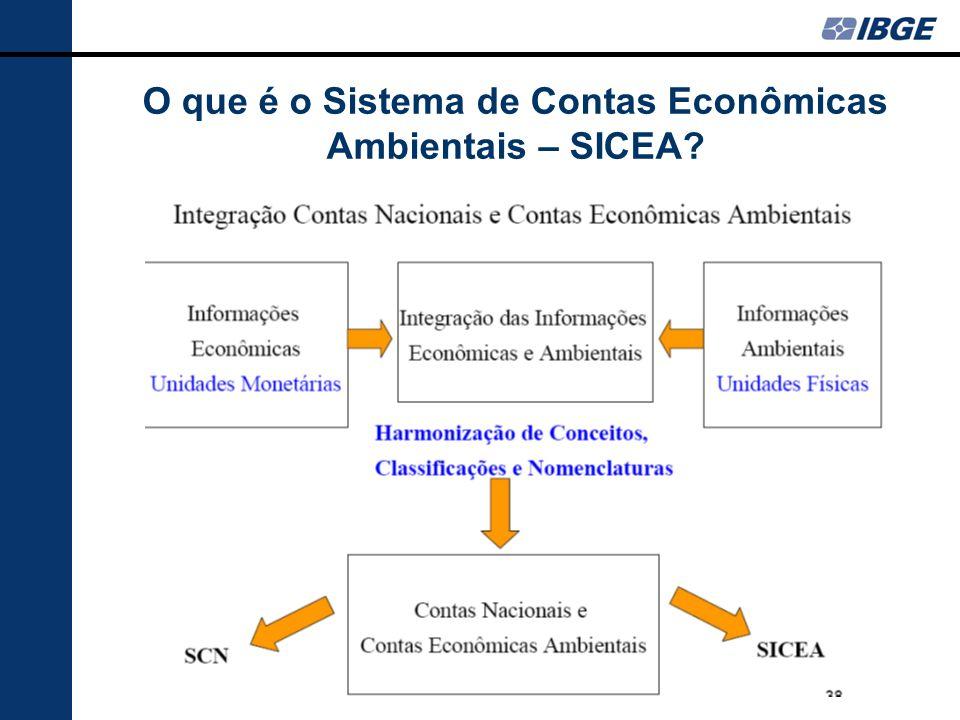 O que é o Sistema de Contas Econômicas Ambientais – SICEA?