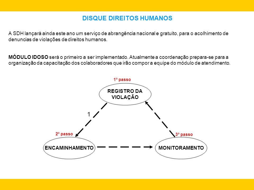DISQUE DIREITOS HUMANOS A SDH lançará ainda este ano um serviço de abrangência nacional e gratuito, para o acolhimento de denuncias de violações de di